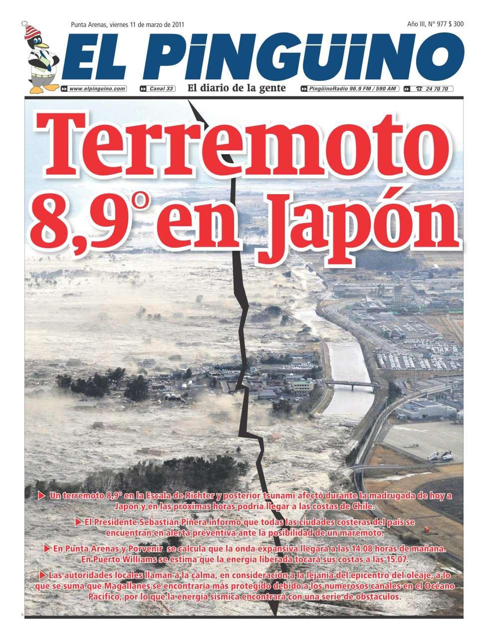 terremoto japon 2011.