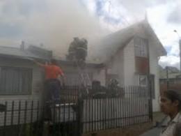 Incendio en barrio Archipiélago de Chiloé