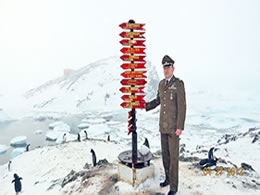 La historia del único carabinero en la Antártica